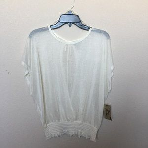 NWT true freedom sheer top with open key hole back